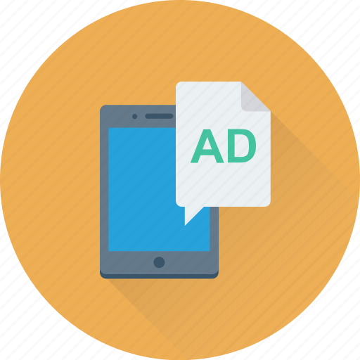 ad, advertisement, marketing, mobile, mobile advertising icon