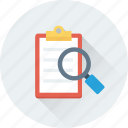 file, magnifier, scanning, search document, search file icon