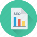 bar graph, graph, report, seo graph, seo report icon