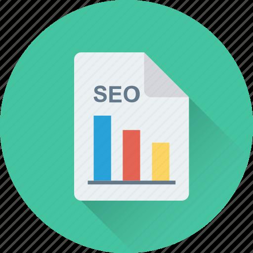 bar graph, graph, report, seo graph, seo report icon