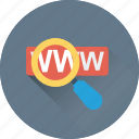 magnifier, search domain, url, website, www icon