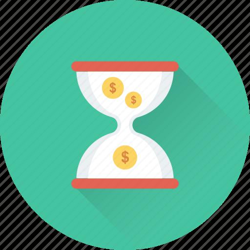 Chronometer, hourglass, egg timer, timer, sand timer icon