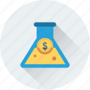 business research, conical flask, experiment, flask, research icon
