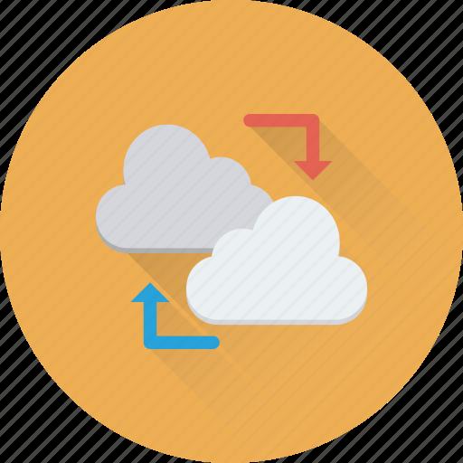 backup, cloud computing, cloud sharing, data share, sync icon