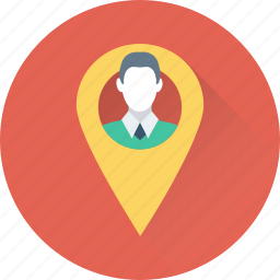 gps, map pin, navigation, route, user location icon