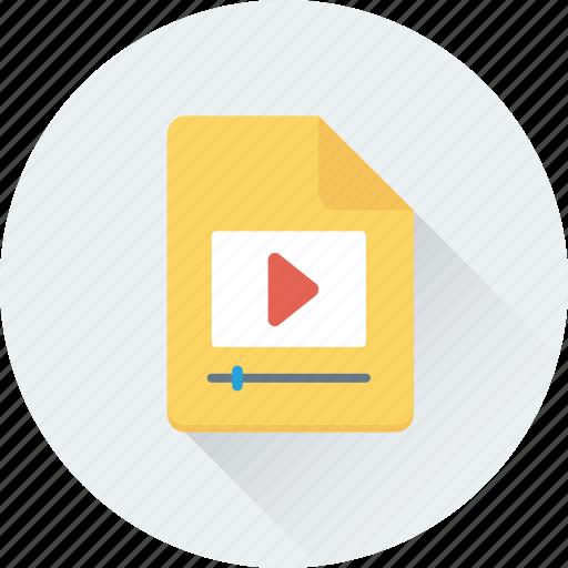 movie file, multimedia, play, sound, video file icon