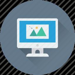 image, landscape, monitor, photo, picture icon