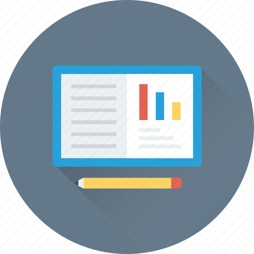business, graph, notebook, notepad, writing pad icon