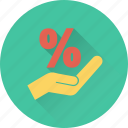 discount, discount offer, hand gesture, offer, percentage icon
