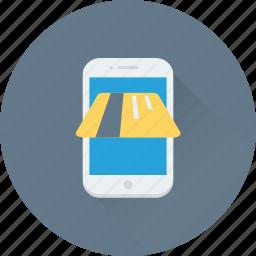 credit card, mobile shop, mobile store, online transaction, transaction icon