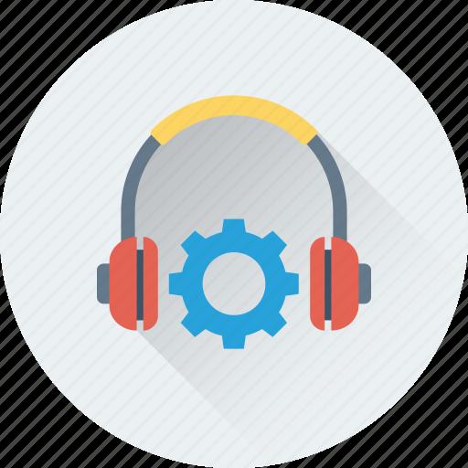 earbuds, earspeakers, headphone, settings, sound settings icon