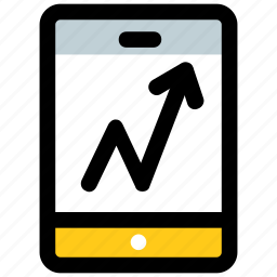 dashboard, data visualization, mobile app, mobile graph, mobile ui icon