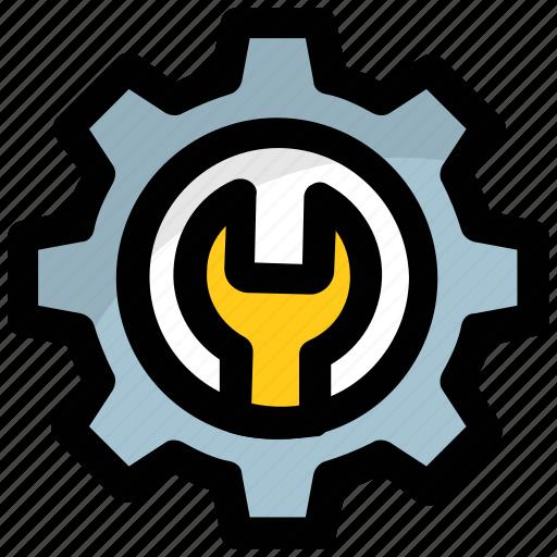 maintenance, preferences, repair, setting, spanner icon