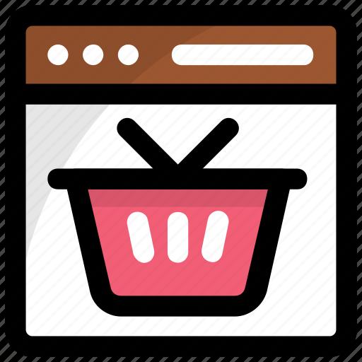 buy online, ecommerce, eshop, online shopping, shopping basket icon