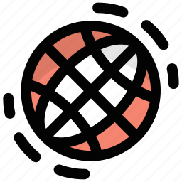 earth grid, globe, planet, sphere, world icon