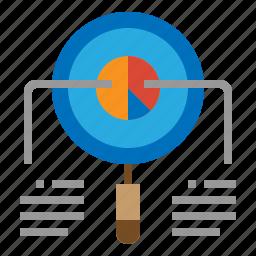 analytics, document, graph, sales icon