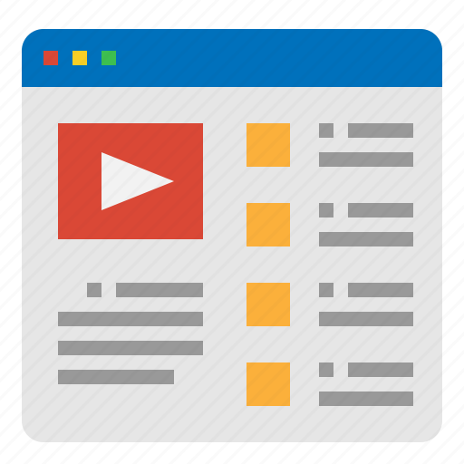 advertising, live, promotion, video icon