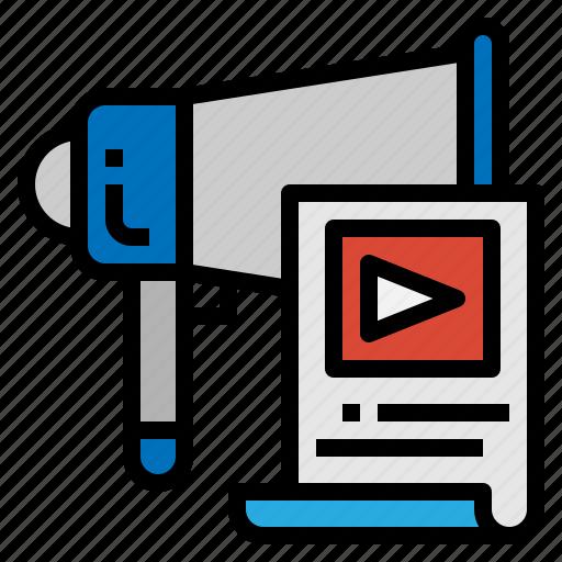 advertising, audio, marketing, megaphone icon
