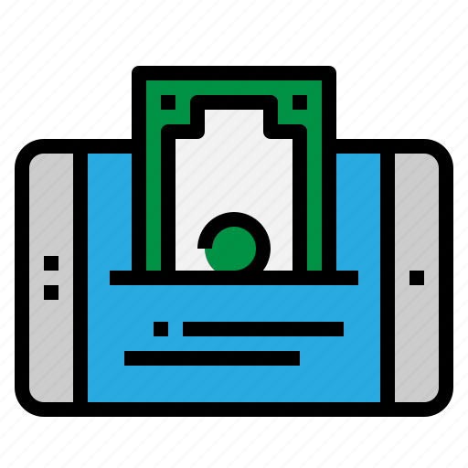 mobile, money, pay, payment icon