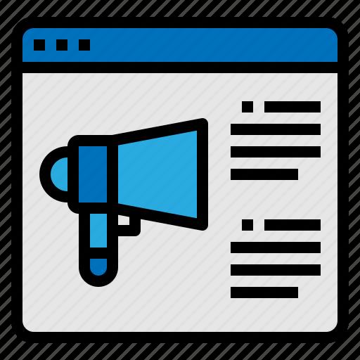 marketing, megaphone, web, website icon