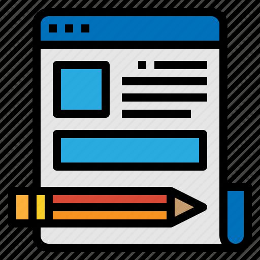 article, blog, content, copywriting icon
