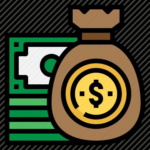 bag, budget, dollars, money icon