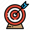 arrow, goal, strategy, target icon