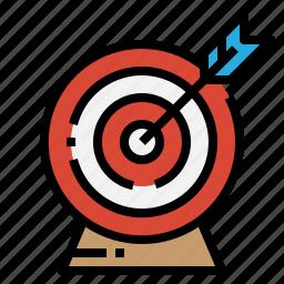 arrow, goal, strategy, target icon