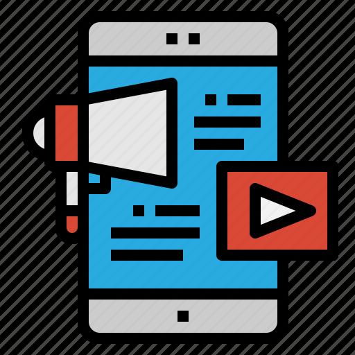 customer, marketing, mobile, viral icon