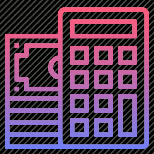 budget calculator management money icon
