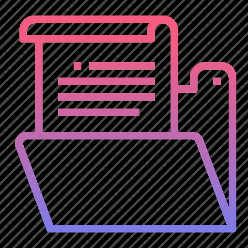 file, folder, presentation, project icon