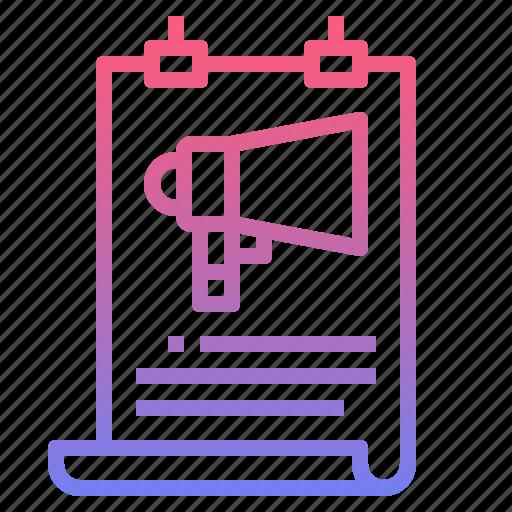 advertisement, advertising, maketing, megaphone icon