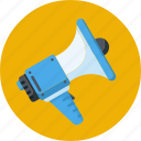 advertisement, loudspeaker, marketing, megaphone, online marketing icon