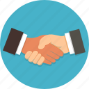 business, deal, hand, handshakes, people, team work icon