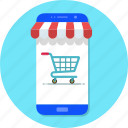 mobile, mobile shop, online shop, shop, shopping cart icon