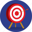 aim, archery, darts, goal, success, target icon