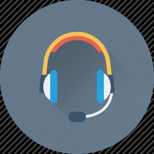 customer service, earphones, headphones, music, telemarketing icon