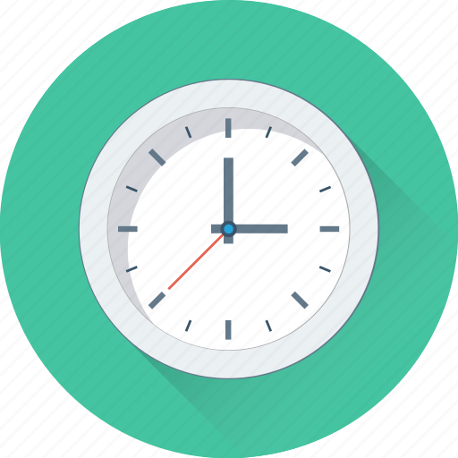 clock, time, timepiece, wall clock, watch icon