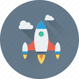 business launch, launch, missile, rocket, startup icon