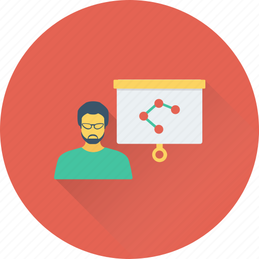 analysis, bar graph, graph presentation, presentation, whiteboard icon