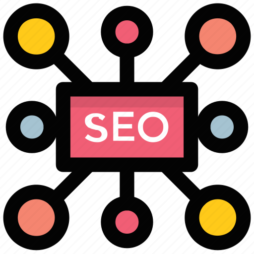digital marketing, network building, seo flow chart, seo hierarchy, seo network icon