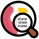 barcode investigation, barcode magnifying, code tracking, itracker, upc tracking icon