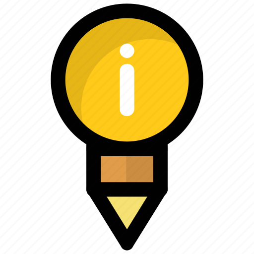 education, info, informations, knowledge, learning concept icon