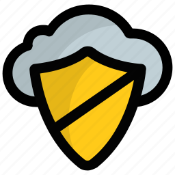 cloud computing, cloud protection, cloud security, cloud shield, data privacy icon