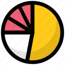 analysis, analytics, circle chart, pie chart, pie graph icon