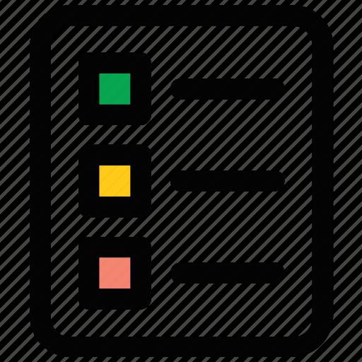 checklist, list, schedule, to do, work plan icon