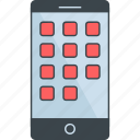 communication, device, mobile, phone, smartphone, telephone icon