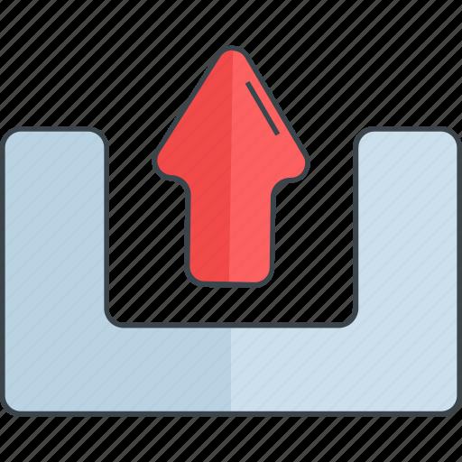 arrow, cloud, data, server, storage, upload icon