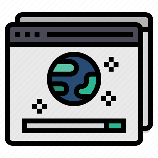 browser, browsers, internet, online, web, website icon
