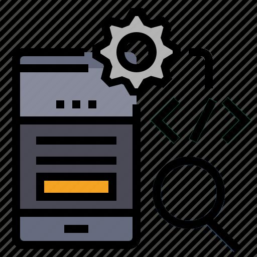 coding, device, mobile, mobile optimization, optimization, responsive mobile, seo icon